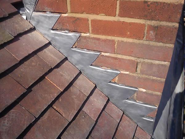 Lead Flashing Roof Repair Line
